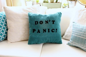 Don't Panic! Pillow