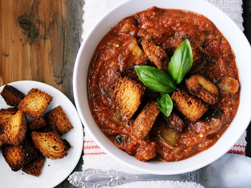Roasted Eggplant and Tomato Soup - Dora's Daily Dish