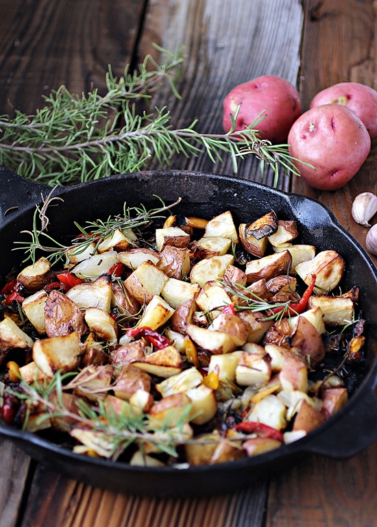 Roasted Rosemary Potatoes with Onions