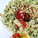 Garlic Olive Oil Pasta with Parsley and Toasted Pine Nuts