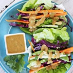Garden Wraps with Peanut Dressing