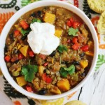 Butternut Squash Chili with Maple Sweetened Cornbread