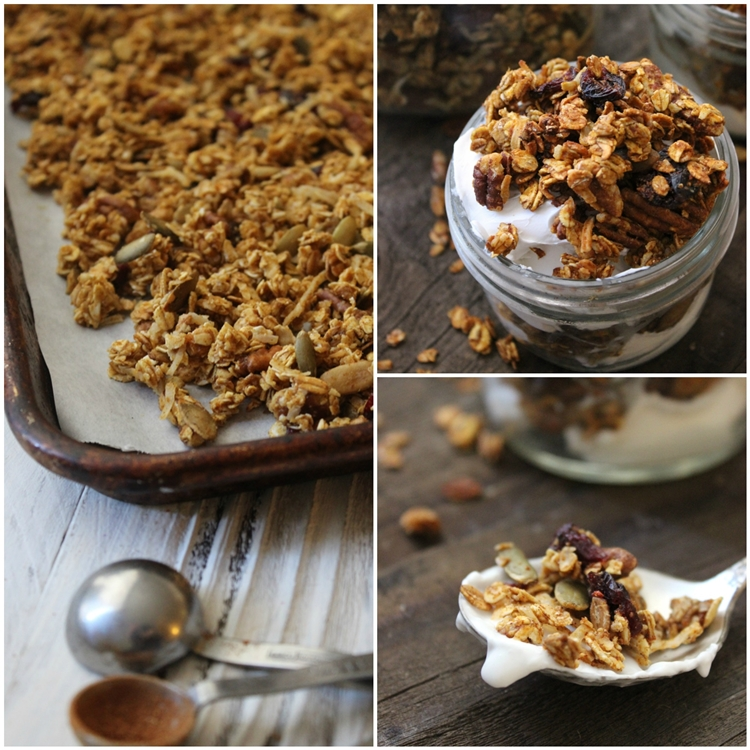 This pumpkin spice granola recipe is full of pumpkin spice flavor.