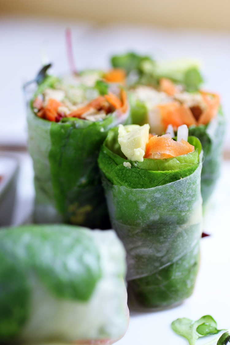 Vietnamese Spring Rolls with Baked Tofu