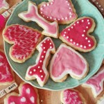 Vegan Shortbread Cookies with Raspberry Icing