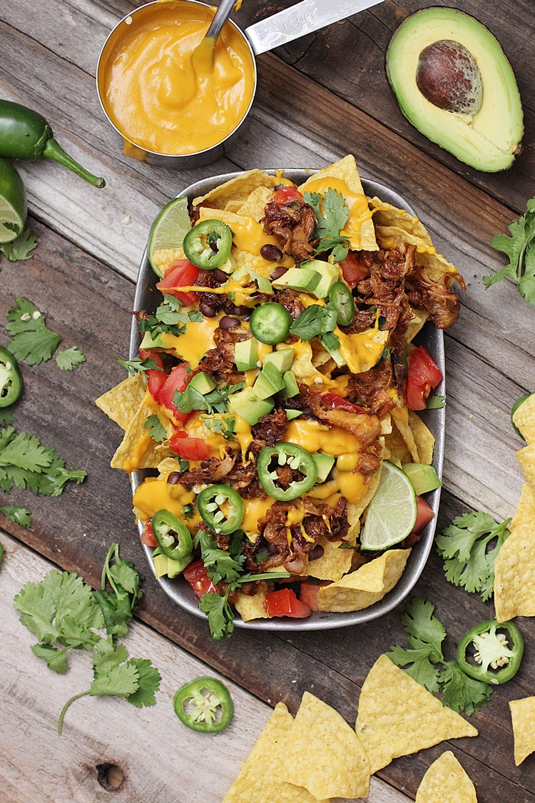 Vegan Nachos With Barbecue Jackfruit Dora S Daily Dish
