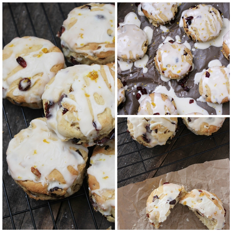 Vegan Cranberry Orange Scones Recipe